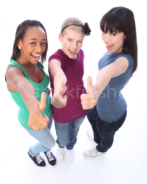 Student success for ethnic teenage girl friends Stock photo © darrinhenry