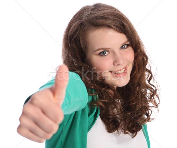 Bella sorriso successo bella adolescente ragazza Foto d'archivio © darrinhenry