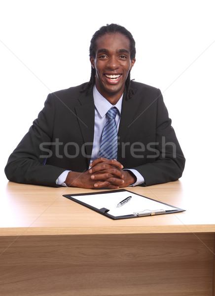 Felice giovani nero imprenditore grande Foto d'archivio © darrinhenry