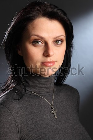 Peace crucifix necklace for beautiful young woman Stock photo © darrinhenry