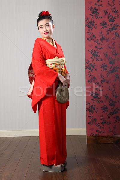 Oriental kimono model in traditional Japan dress Stock photo © darrinhenry