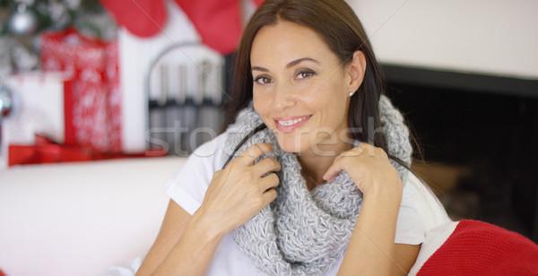 Bella sincero indossare caldo soft Foto d'archivio © dash