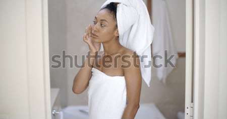 Young Woman In White Bathrobe Stock photo © dash