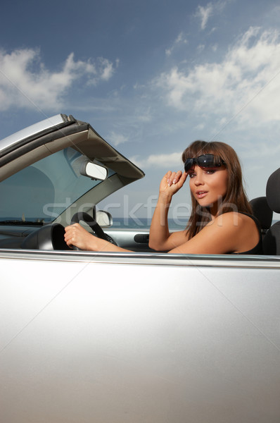 Girl and Car Stock photo © dash