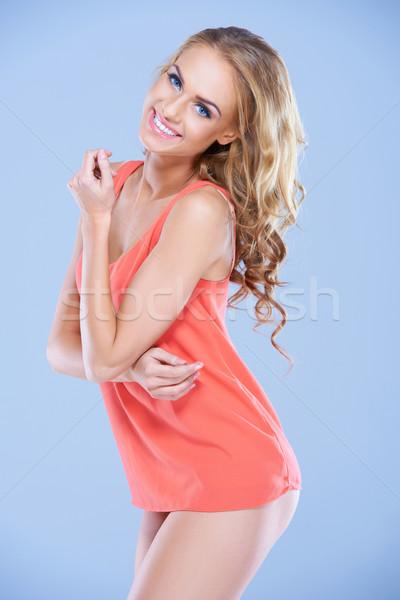 Bella moda modello sexy guardando Foto d'archivio © dash