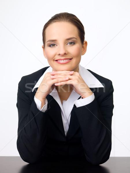 Stok fotoğraf: Sevimli · iş · kadını · portre · güzel · genç · iş