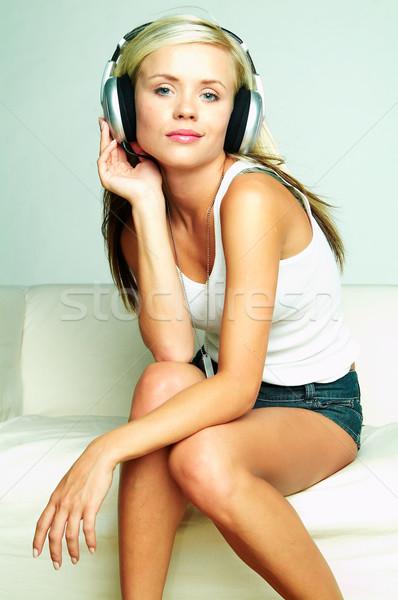 Listen to the music Stock photo © dash