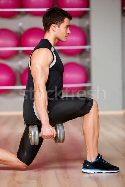 Man gymnasium knappe man sport gezondheid oefening Stockfoto © dash