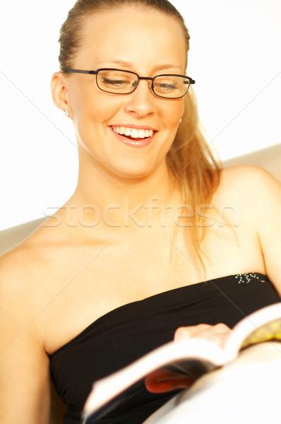 Women reading a book Stock photo © dash