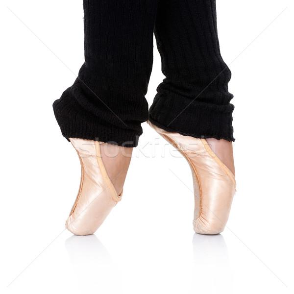 Ballet dancer posing en pointe Stock photo © dash