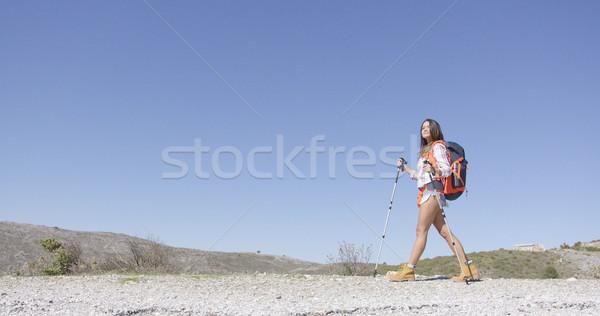 Young female tourist walking Stock photo © dash