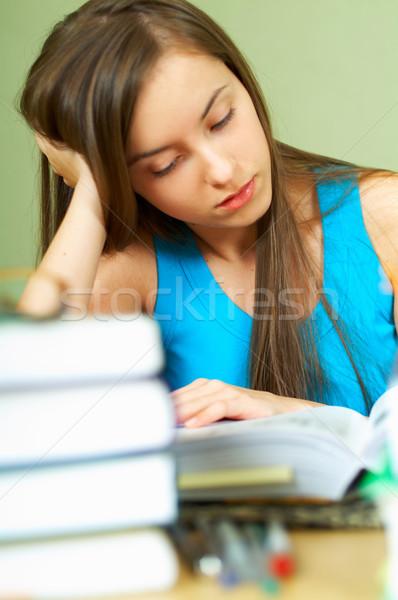 Lerning Girl Stock photo © dash