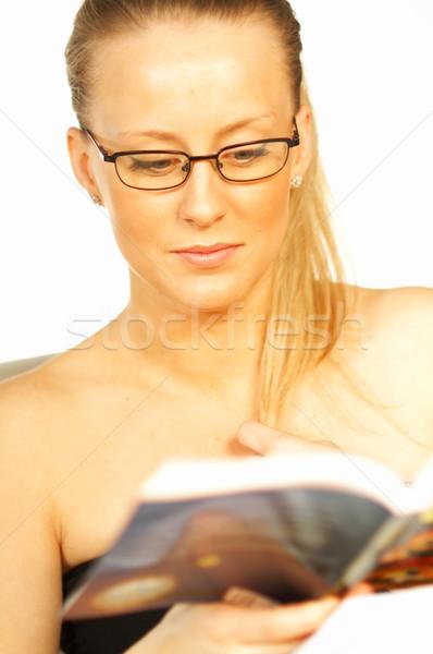 Stock photo: Women reading a book