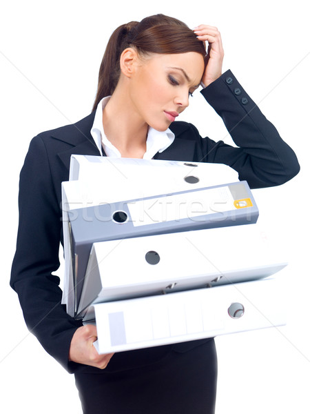 Stressed businesswoman Stock photo © dash