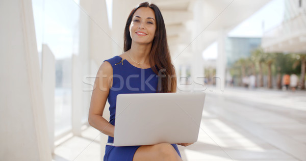 Jovem empresária trabalhando ao ar livre Foto stock © dash