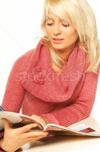 Women reading a magazine Stock photo © dash
