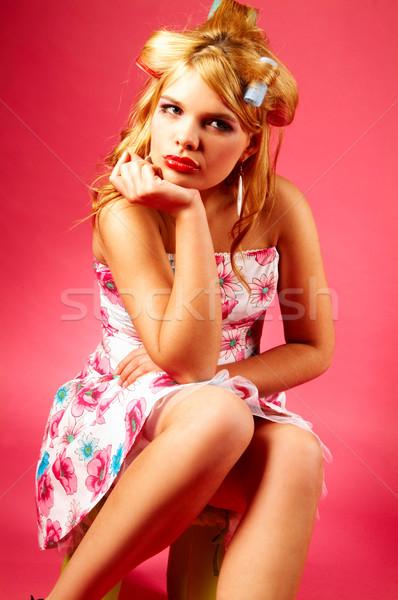 Nő gyönyörű nő nők boldog sikoly fiatalság Stock fotó © dash