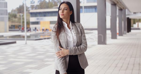 Optymistyczny business woman piękna stałego Zdjęcia stock © dash