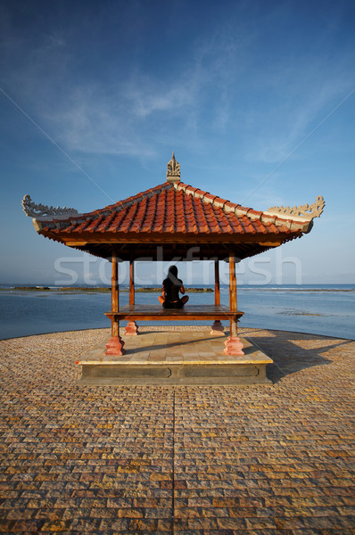 Woman at Bali seaside Stock photo © dash