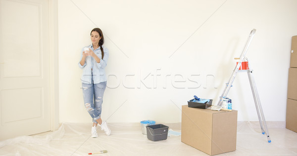 Young woman sending a text message Stock photo © dash