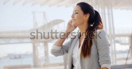 Motivated young woman giving a thumbs up Stock photo © dash