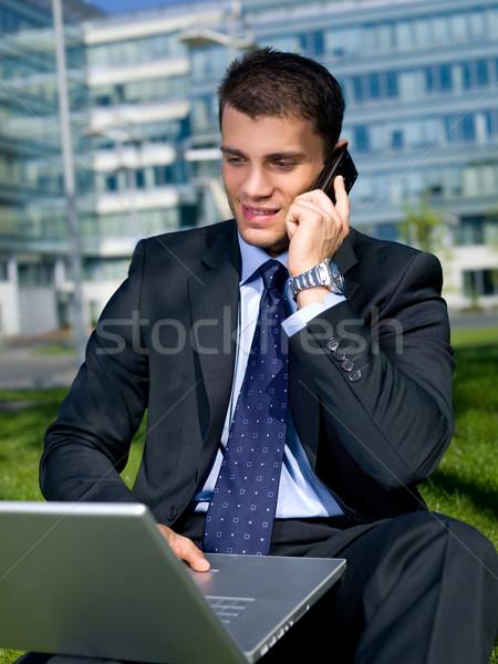 Ao ar livre empresário retrato homem de negócios fora edifício Foto stock © dash