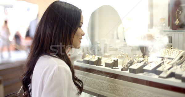 Woman Looking At The Shop Window Stock photo © dash