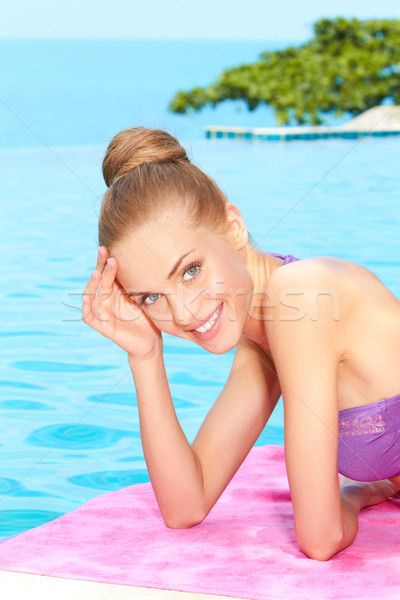 Taking sunbath in bikini Stock photo © dash