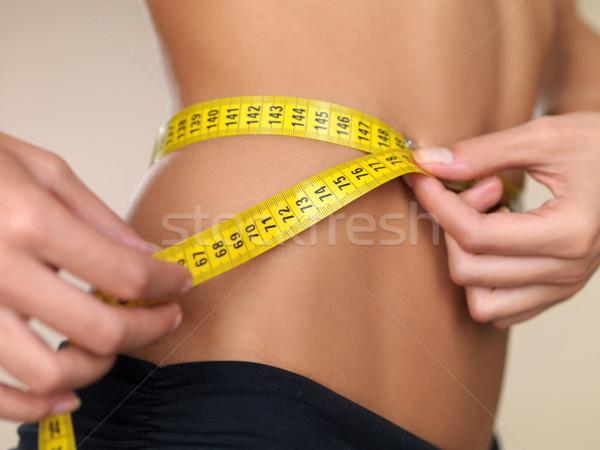 Tijd dieet vrouw meisje lichaam Stockfoto © dash