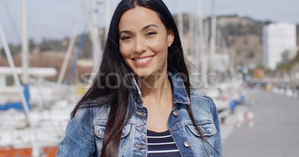 Gorgeous vivacious young woman Stock photo © dash