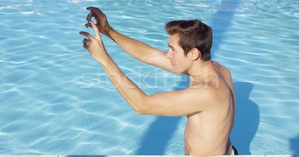 красивый мышечный человека фото Постоянный Сток-фото © dash