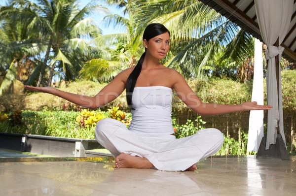Tijd ontspannen jaren yoga exotisch Stockfoto © dash
