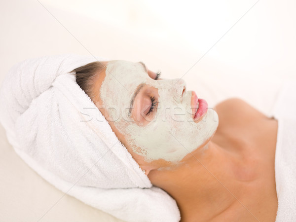 Minden nap fürdő portré gyönyörű nő spa kezelés nő Stock fotó © dash