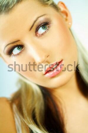 Güzellik taze portre çekici güzel genç kadın Stok fotoğraf © dash