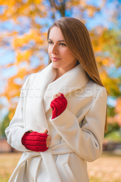 Elegant confident young woman Stock photo © dash