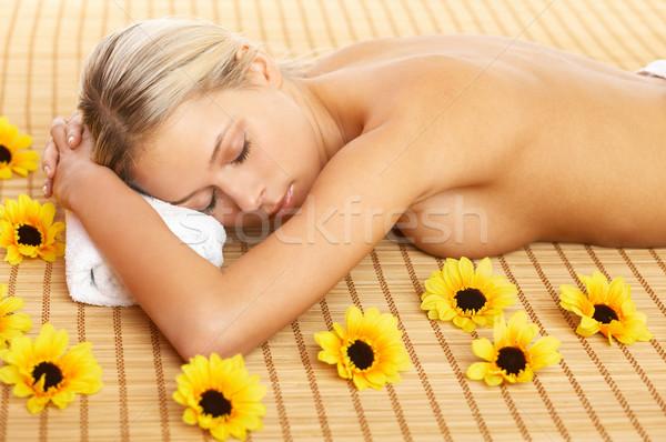 Dagelijks spa portret mooie vrouw spa-behandeling vrouw Stockfoto © dash