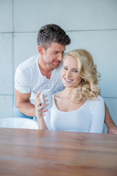 Young White Couple in Coffee Time Photo Shoot Stock photo © dash