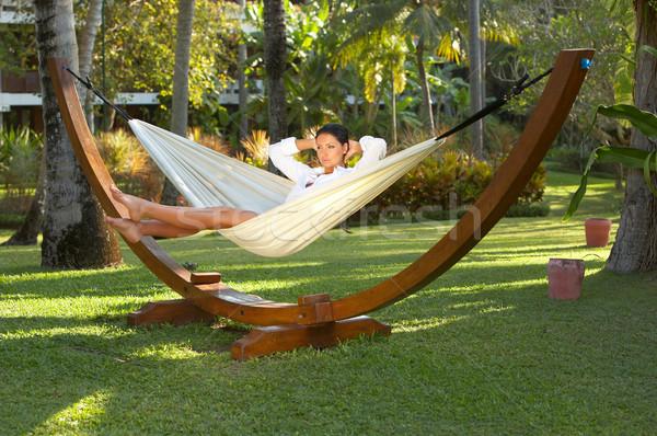 Vrouw hangmat jaren exotisch bali Stockfoto © dash