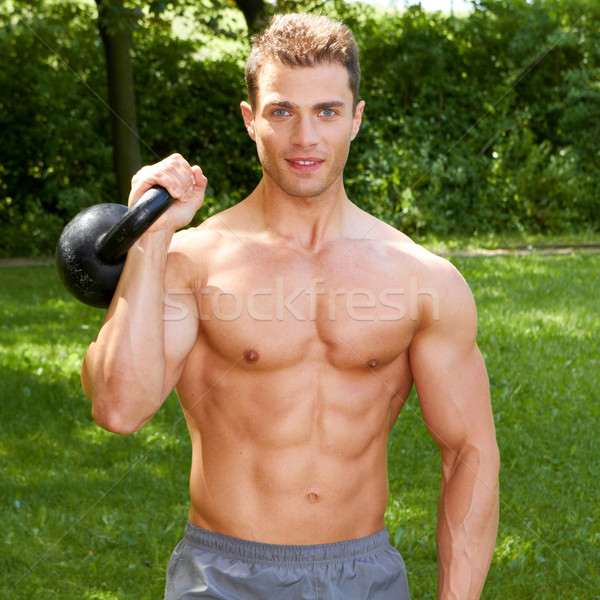 Topless caber homem pesos Foto stock © dash