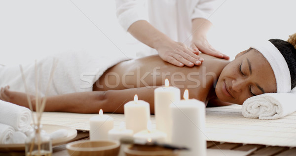 Young Woman Having A Massage In Spa Stock photo © dash