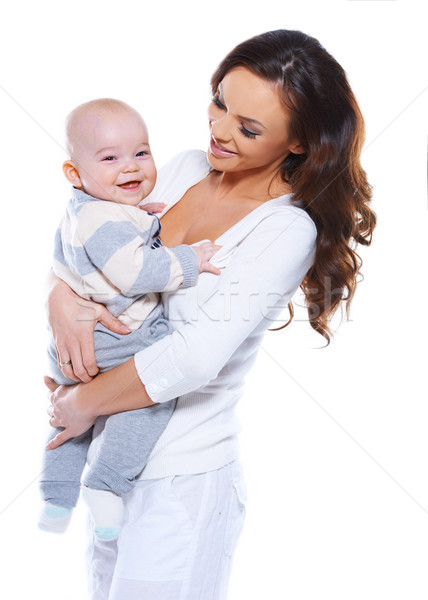 Young mother with a happy baby Stock photo © dash