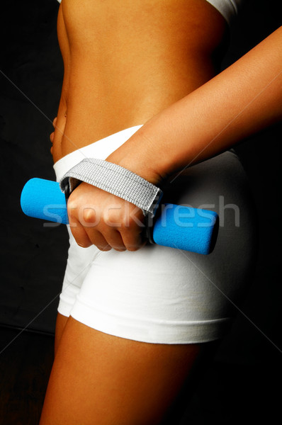Fitnessz nő testrész fitnessz lány test tornaterem Stock fotó © dash