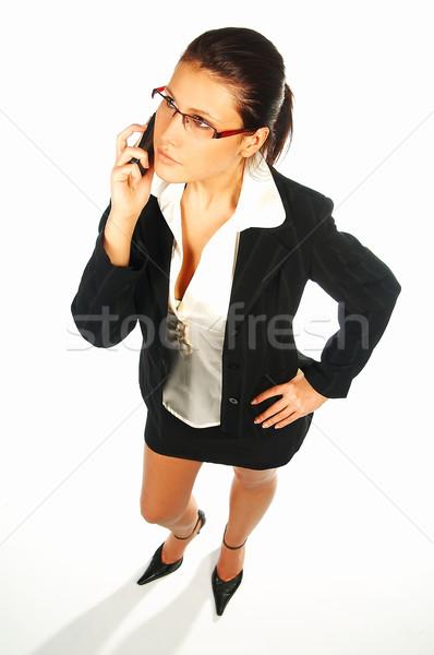Sexy zakenvrouw business vrouwen geïsoleerd witte Stockfoto © dash