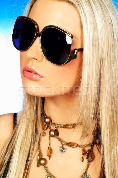 Pani portret atrakcyjny piękna młoda kobieta Zdjęcia stock © dash