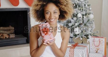 Sexy young woman celebrating Christmas Stock photo © dash
