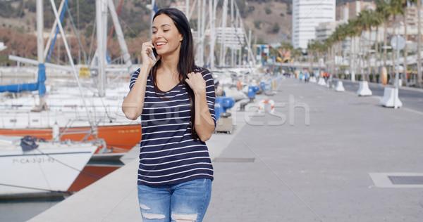 Marche passé marina séduisant Photo stock © dash