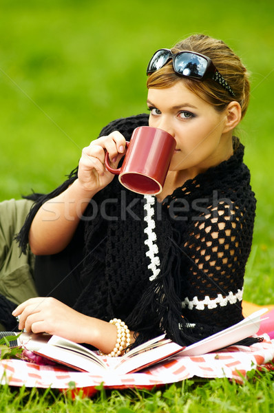 Woman on Picnic Stock photo © dash