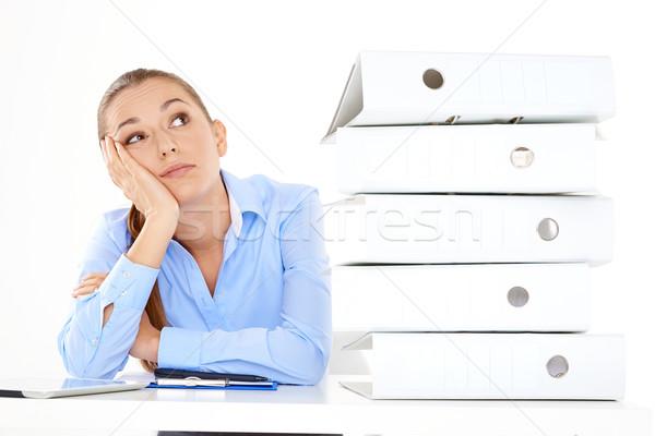 скучно женщины сотрудник белый работу красоту Сток-фото © dash