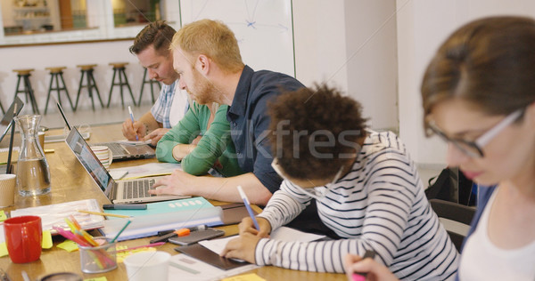 Team working on project Stock photo © dash