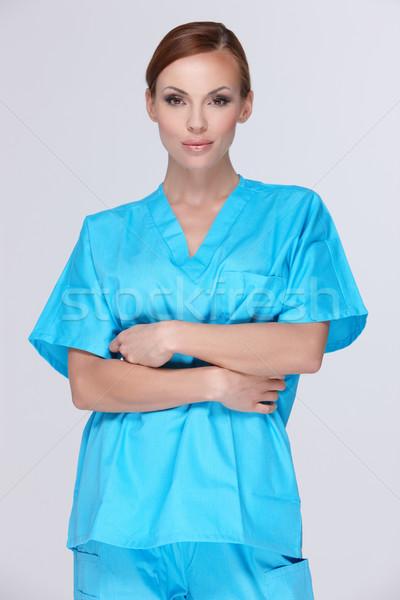 красивой женщины врач Постоянный Nice улыбка Сток-фото © dash